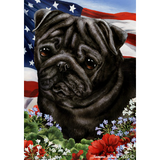Tamara Burnett Patriotic Pug Flag