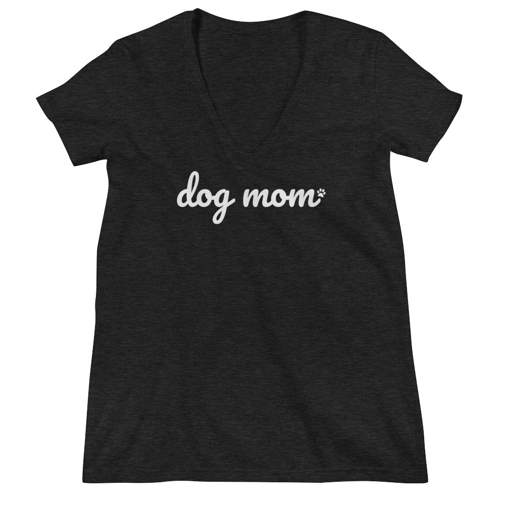 Ladies' Dog Mom V-Neck Tee