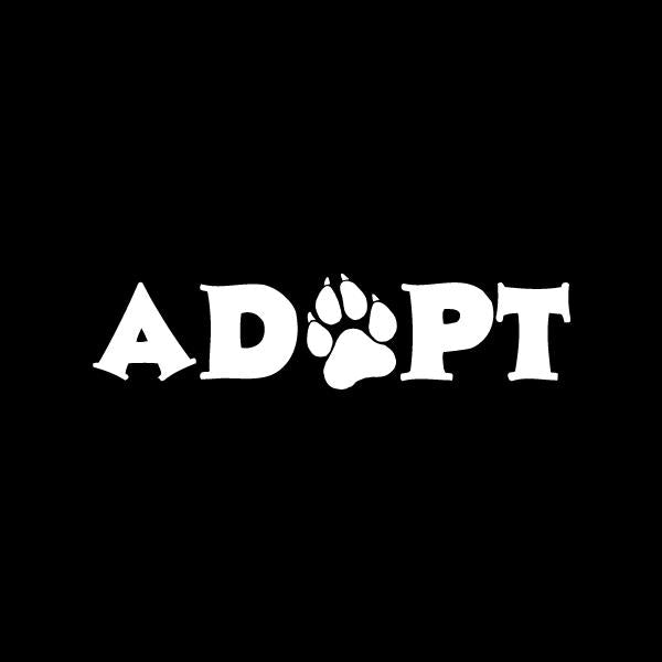 Adopt Vinyl Car Window Decal