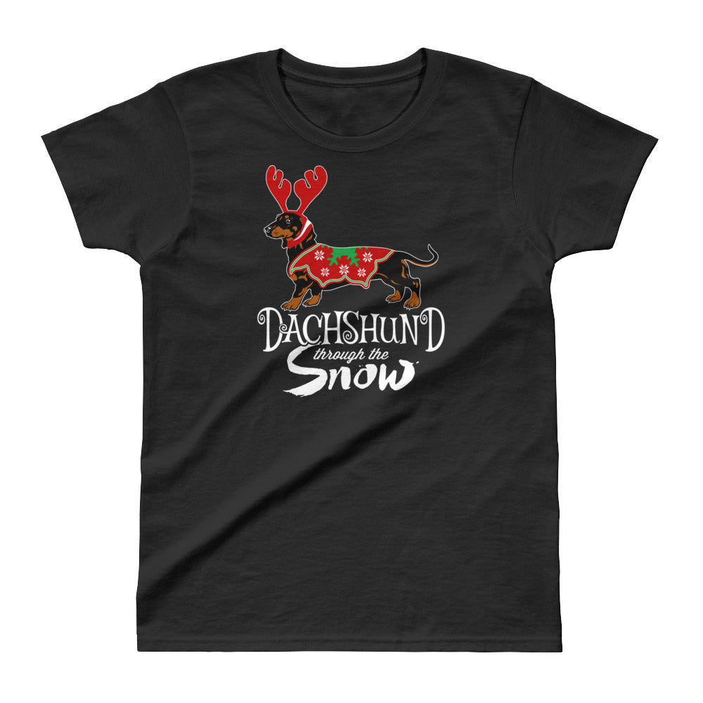 Ladies' Dachshund Snow Tee