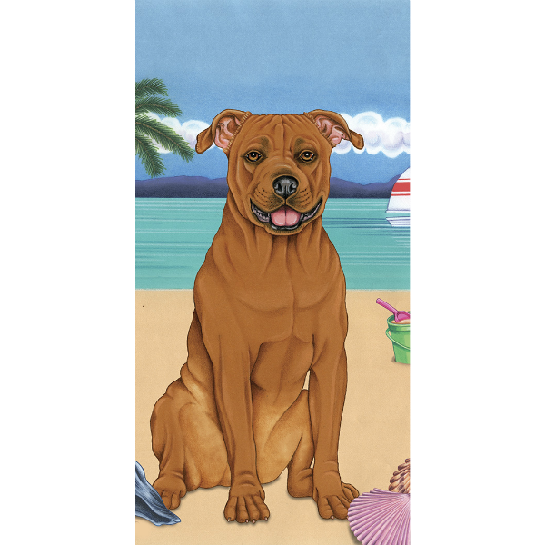 Summer Pit Bull Beach Towel