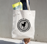 """Don't Shop Adopt"" Canvas Tote"