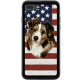 Patriotic Australian Shepherd Phone Case