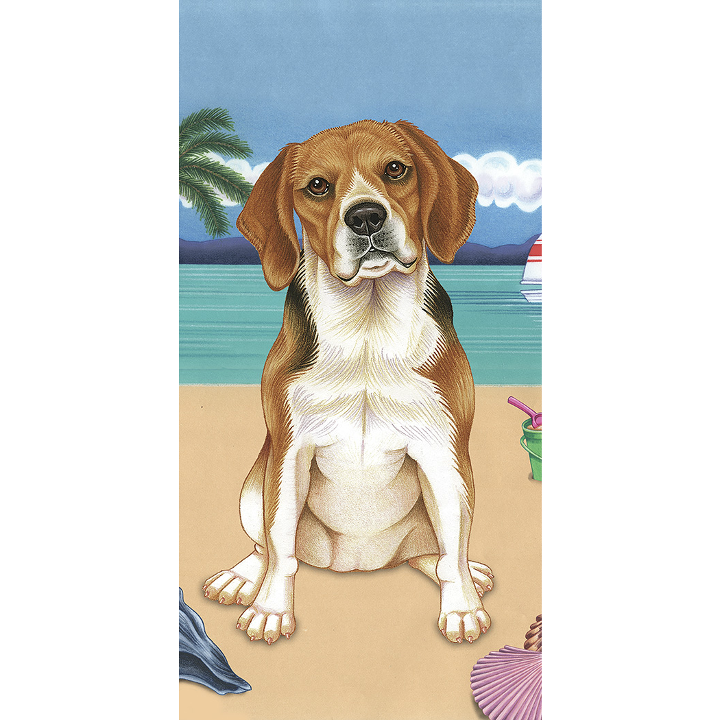 Summer Beagle Beach Towel