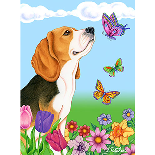 Butterflies Beagle Flag