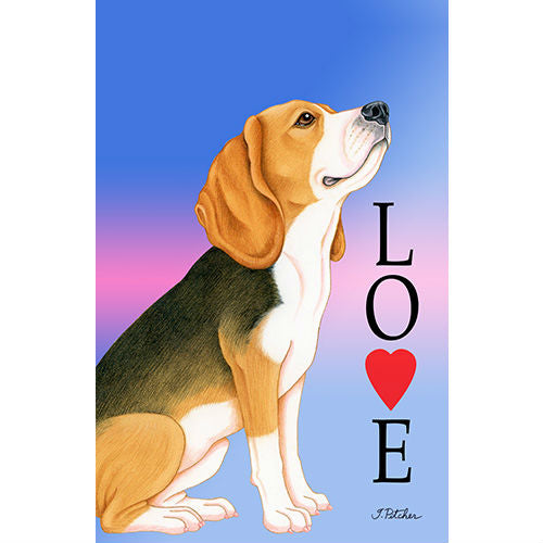 Beagle Love Flag