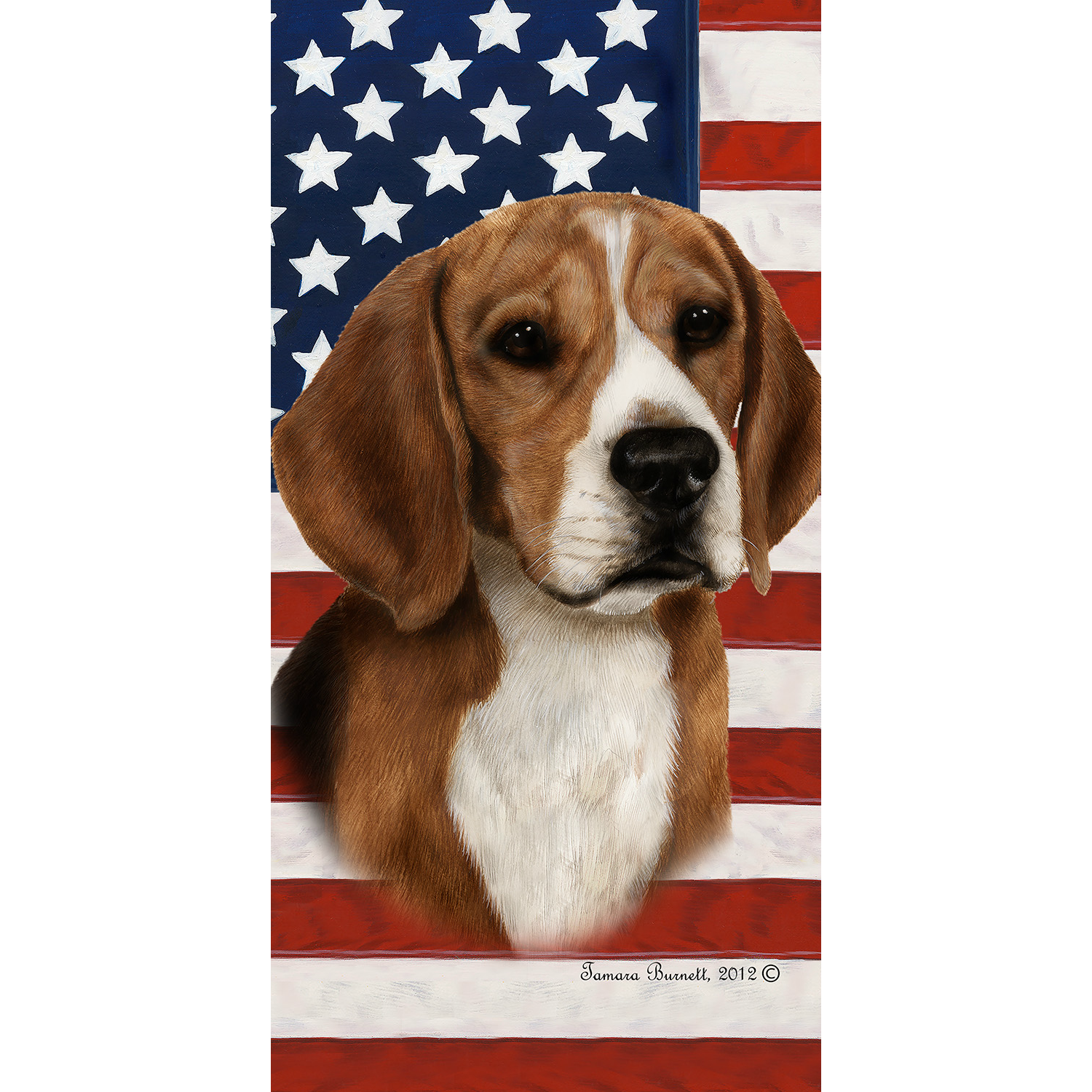 Patriotic Beagle Beach Towel