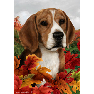 Fall Leaves Beagle Flag