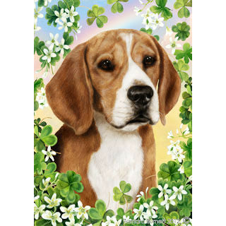 St. Patrick's Day Beagle Flag