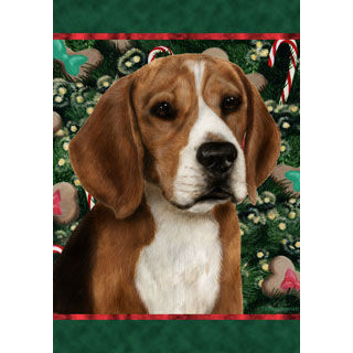 Christmas Beagle Flag