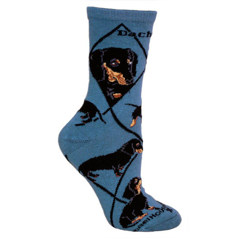 Classic Black & Tan Dachshund Lover Socks