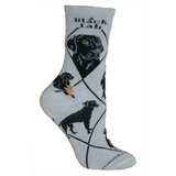 Classic Black Lab Lover Socks