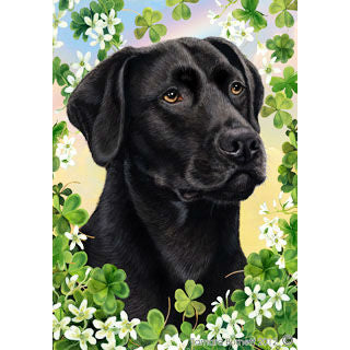 Tamara Burnett St. Patrick's Day Labrador Retriever Flag