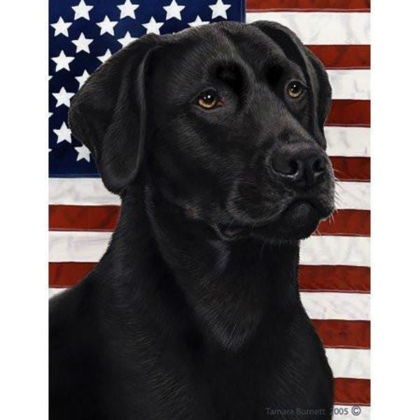Tamara Burnett Patriotic Labrador Retriever Flag