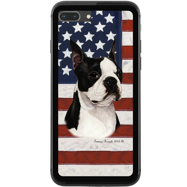 Patriotic Boston Terrier Phone Case