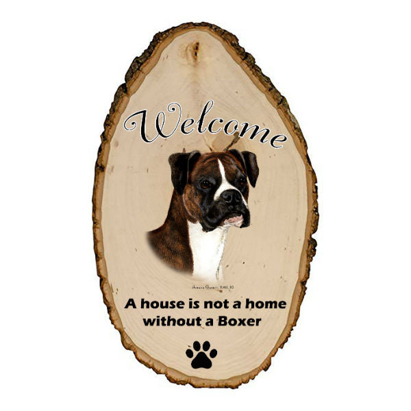 Boxer Welcome Sign