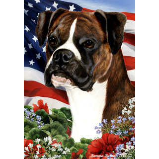 Patriotic Boxer Flag