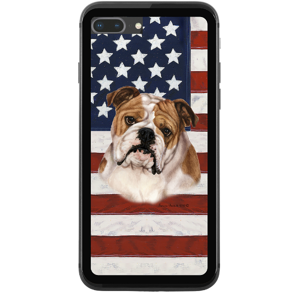 Patriotic Bulldog Phone Case