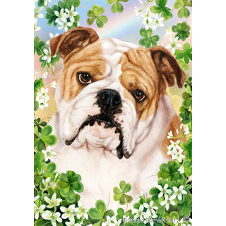 St. Patrick's Day Bulldog Flag