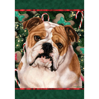 Christmas Bulldog Flag