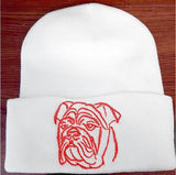 Bulldog Knit Ski Hat