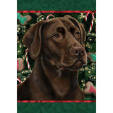 Tamara Burnett Christmas Labrador Retriever Flag