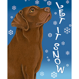 Tomoyo Pitcher Let It Snow Labrador Retriever Flag