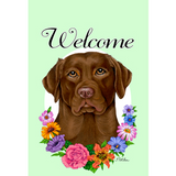 Welcome Flowers Lab Flag