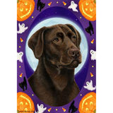 Tamara Burnett Halloween Howls Labrador Retriever Flag