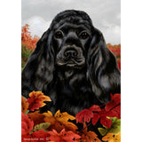 Fall Leaves Cocker Spaniel Flag