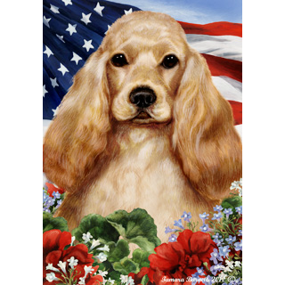 Tamara Burnett Patriotic Cocker Spaniel Flag