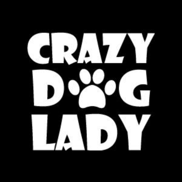 Crazy Dog Lady Vinyl Car Window Decal