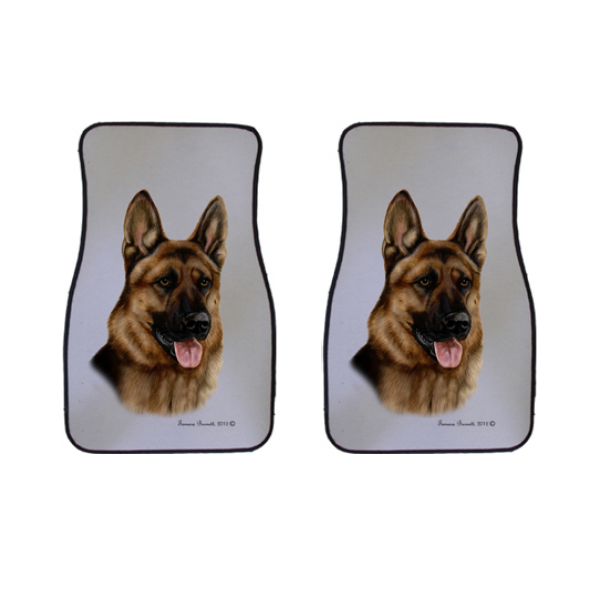 German Shepherd Car Mats (Set of 2)