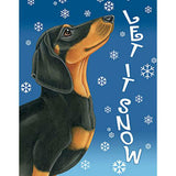 Tomoyo Pitcher Let It Snow Dachshund Flag