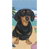 Summer Dachshund Beach Towel