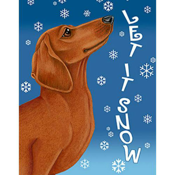 Let It Snow Dachshund Flag