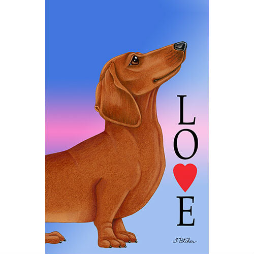 Dachshund Love Flag