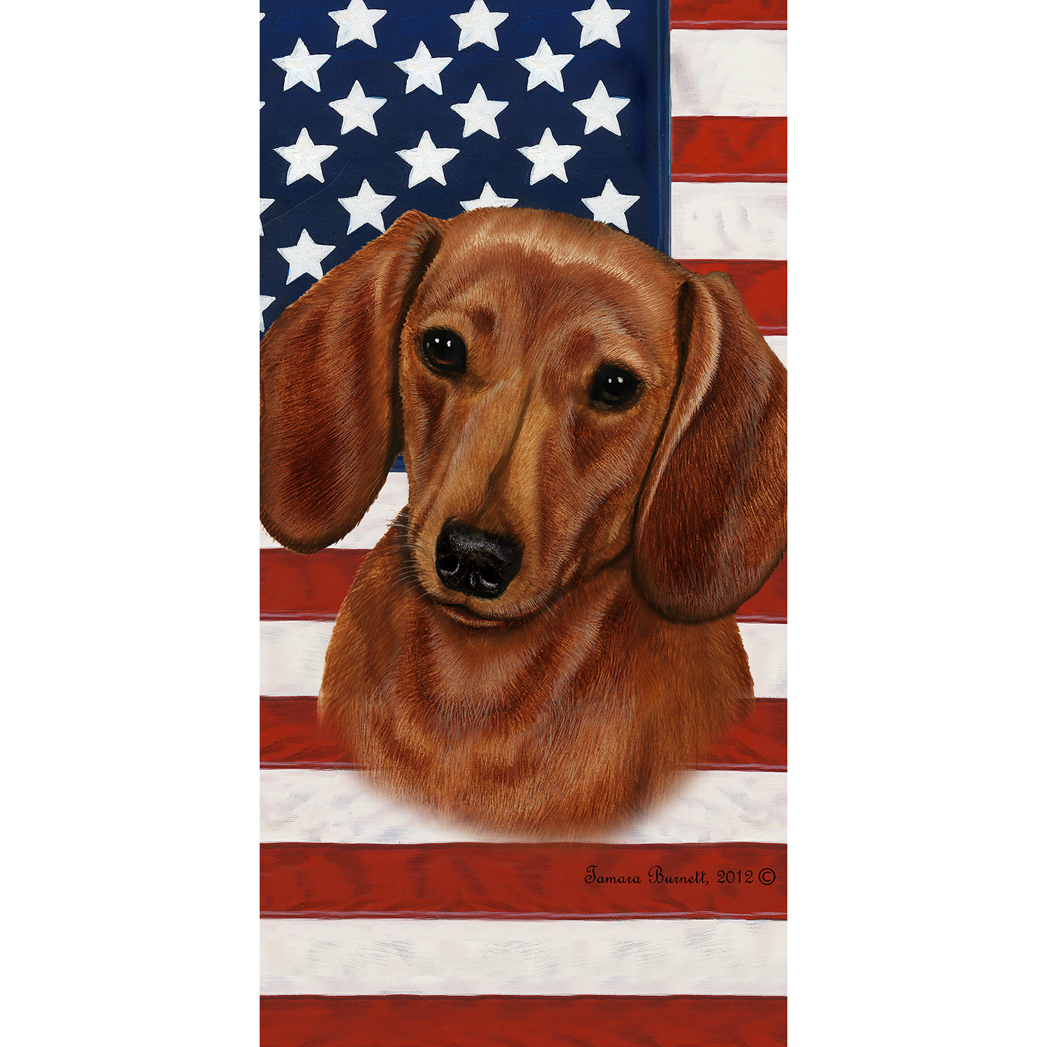 Patriotic Dachshund Beach Towel