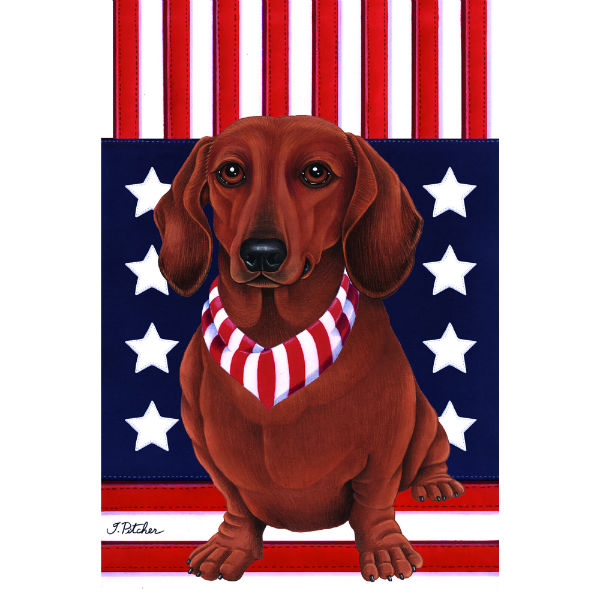 USA Dachshund Flag