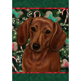Christmas Dachshund Flag