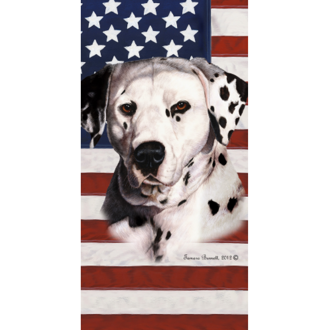 Patriotic Dalmatian Beach Towel