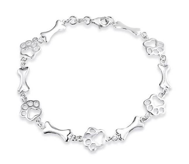 Paws Of Love Sterling Silver Bracelet