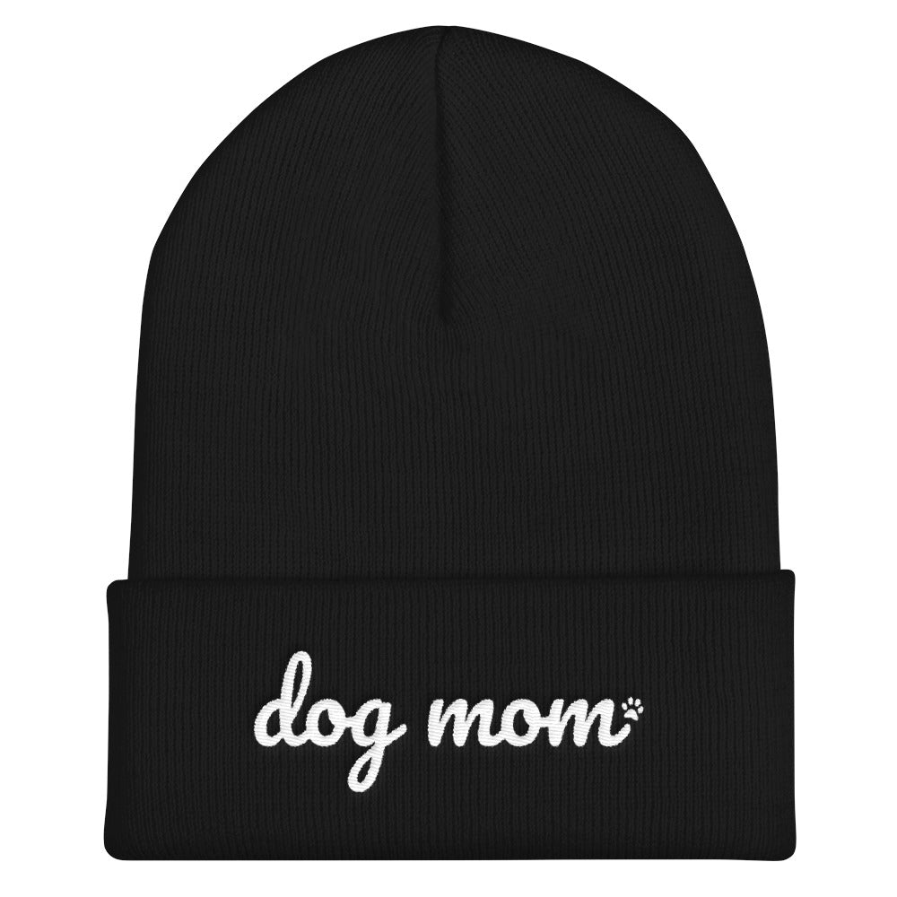 Dog Mom Knit Ski Hat