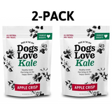 Dogs Love Kale Wheat Free Treats - Apple Crisp