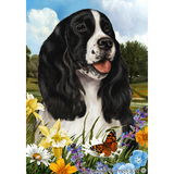 Tamara Burnett Summer Flowers English Springer Spaniel Flag