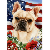Patriotic French Bulldog Flag