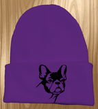 French Bulldog Knit Ski Hat