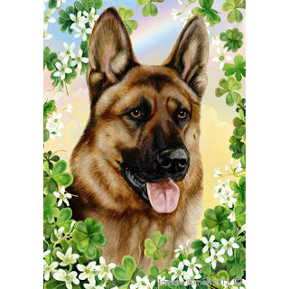 St. Patrick's Day German Shepherd Flag