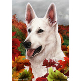 Fall Leaves German Shepherd Flag