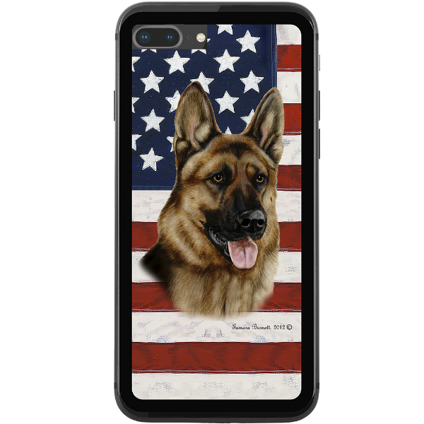 Patriotic German Shepherd Phone Case